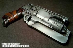 Custom Nerf Hammershot in Steel by JohnsonArmsProps