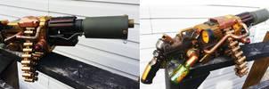 Steampunk Machine Gun Progress 2 by JohnsonArmsProps