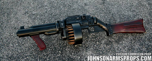 Diesel Punk Style Tommy Gun Prop by JohnsonArmsProps
