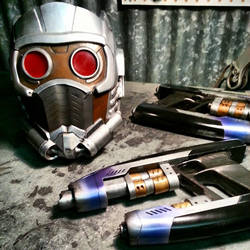 Starlord Helmet and Pistol Props by JohnsonArmsProps