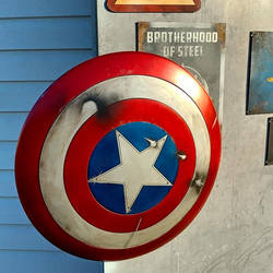Customized Licensed Captain America Shield by JohnsonArmsProps