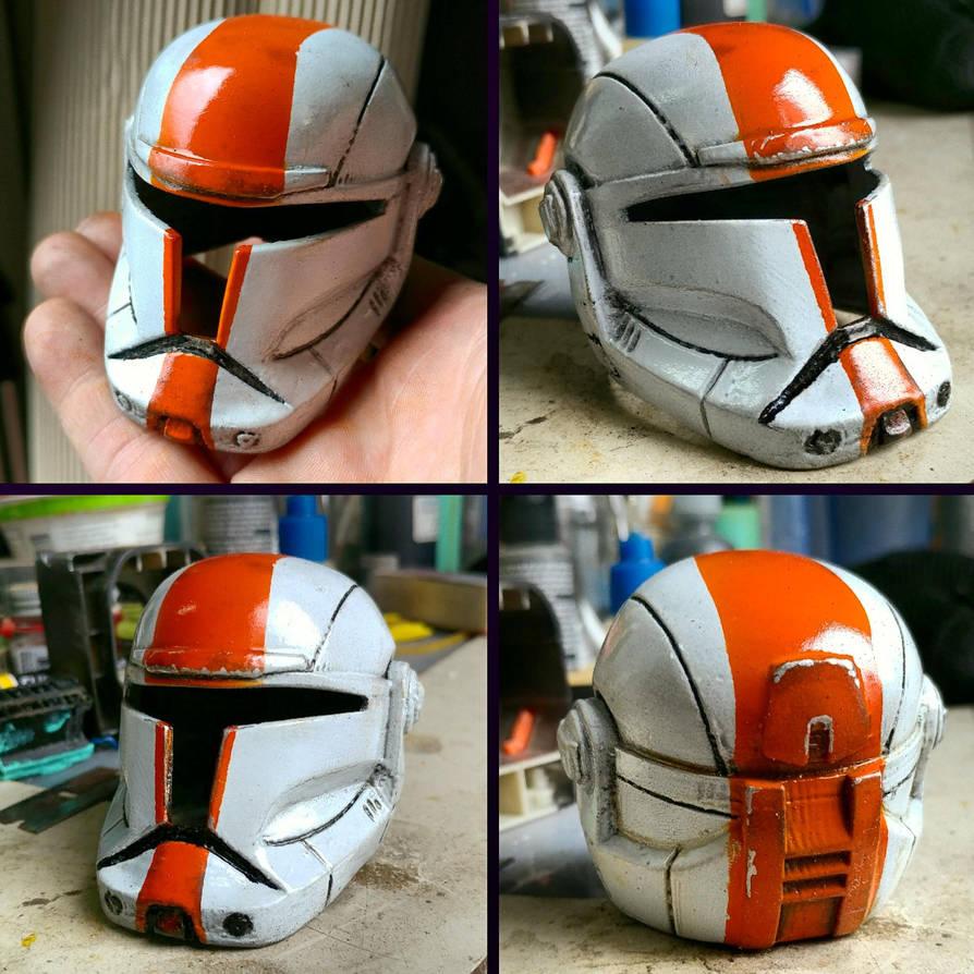 [Progress] Miniature Boss Republic Commando Helmet by JohnsonArmsProps