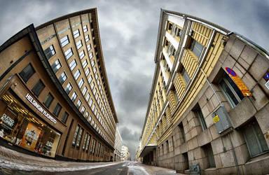 Helsinki fisheye cityscape by NikitaJump