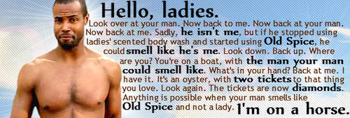 Old Spice Guy -- Forum Siggy by shandsy