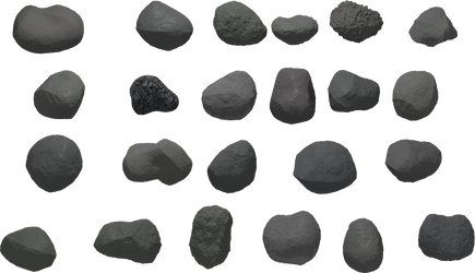 Some rocks to decorate VG stages 2 by Puffolotti4iji