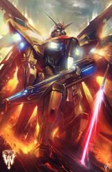 Strike Freedom Gundam by wizyakuza