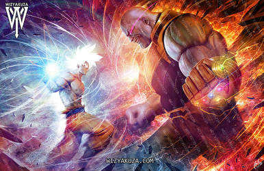 goku vs thanos by wizyakuza