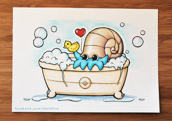 140225 Omanyte Used Bubble Bath by fablefire