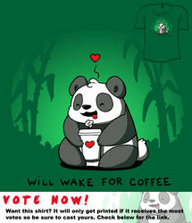 Woot Shirt - Will Wake For Coffee by fablefire