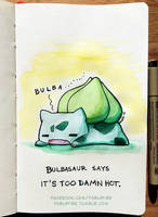 160705 Bulbasaur Is Hot by fablefire