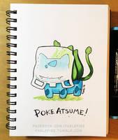 160914 Poke Atsume Bulbasaur by fablefire