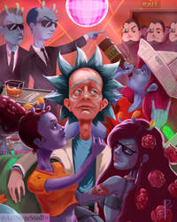 Rick and Morty Fanart by Slauer