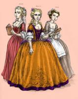 Three Princessess by sazuka