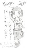 Happy Birthday meow by PixAlchemist
