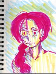 Inktober~10 (Pink Lemonade|My Name is Anime) by Hi-itsFukuro01