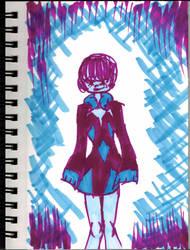 Inktober~11 (Icicle Girl) by Hi-itsFukuro01