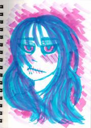 Inktober~12 (Bubblegum Cadaver|My Name is Anime) by Hi-itsFukuro01