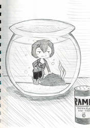 Inktober~16 (Ramen Flavored Fish Feed) by Hi-itsFukuro01