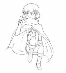 Redraw!~ That Mysterious Girl... by Hi-itsFukuro01