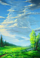 summer skies by KalaNemi