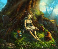fairy tales for forest spirits by KalaNemi
