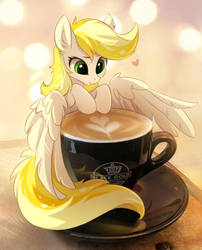 Dandelion Blossom and coffee by tomatocoup