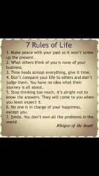 7 Rules Of Life by kinokononomura