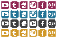 Social Media buttons by Zilverlovely