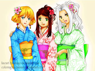 Three Beauties colored by canxnac