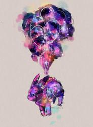 Galaxy Bunny by MeluuArts