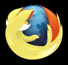 Fennekin Firefox Logo (With Icon) by S-Vortex