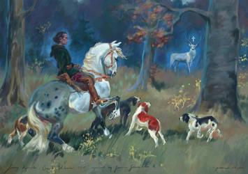 Saint Hubertus by Jerzy Kossak repaint by Pokoniu