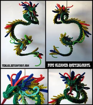 Pipecleaner Quetzalcoatl by teblad