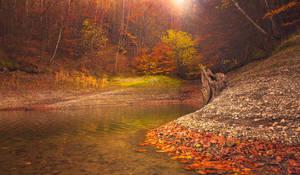 Autumn Lake III by ferrohanc