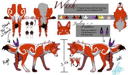 Wish Ref Sheet by WishingStarzArtist