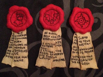 Warhammer - Primarch Purity Seals by Jack-O-AllTrades