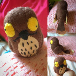 Commission - Potoo Plush by Jack-O-AllTrades