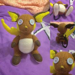 Pokemon - Raichu Plush by Jack-O-AllTrades