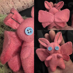 Pink Fleece Moth Plush by Jack-O-AllTrades