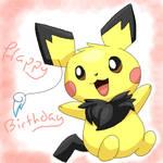 -Happy Pichu Birthday- by Pikanyaa-san