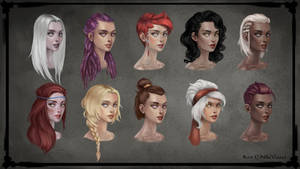 Bard female hair and skin color variations by NikiVaszi