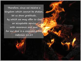Hebrews 12:29 by joyrascal