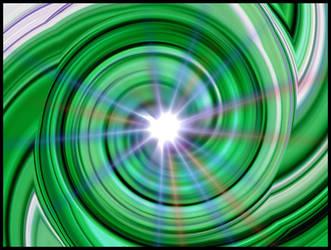 Green Taffy Swirl With Flare by joyrascal