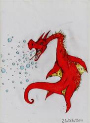Coral Dragon (old drawing) by CarpetSlug