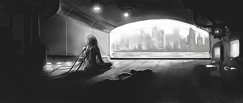 Cyber loneliness by GeoKorf
