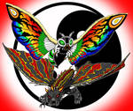 Mothra and Battra by kaijuverse