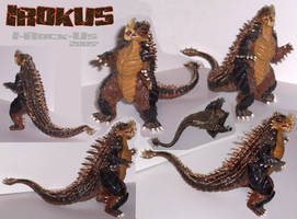 Irokus sculpture by kaijuverse