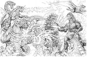 2010 Kaiju Battles by kaijuverse
