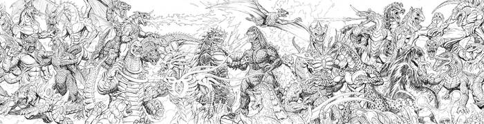 2010 Kaiju Battles all 5 pages by kaijuverse