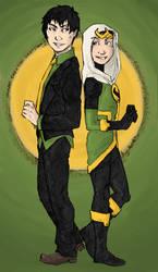 Loki and Amadeus Cho by LadyNorthstar